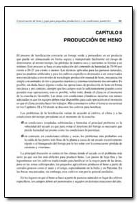 Capitulo II Produccion de Heno by Food and Agriculture Organization of the United Na...