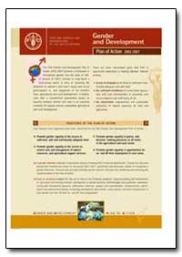 Plan of Action 2002 - 2007 Gender and De... by Food and Agriculture Organization of the United Na...