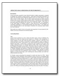 Impact of Cassava Processing on the Envi... by Food and Agriculture Organization of the United Na...