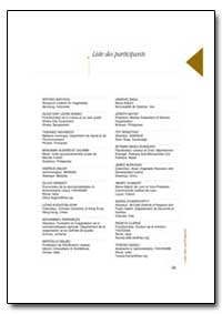 Liste des Participants by Food and Agriculture Organization of the United Na...