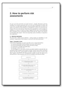 How to Perform Risk Assessments by Food and Agriculture Organization of the United Na...
