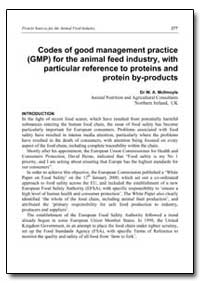 Codes of Good Management Practice (Gmp) ... by Mcilmoyle, W. A., Dr.