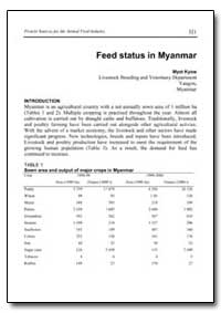Feed Status in Myanmar by Kyaw, Myat