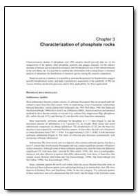 Chapter 3 Characterization of Phosphate ... by Food and Agriculture Organization of the United Na...