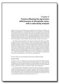 Chapter 5 Factors Affecting the Agronomi... by Food and Agriculture Organization of the United Na...