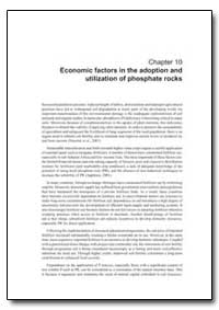 Chapter 10 Economic Factors in the Adopt... by Food and Agriculture Organization of the United Na...