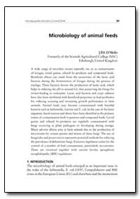 Microbiology of Animal Feeds by Dmelio, J. P. F.