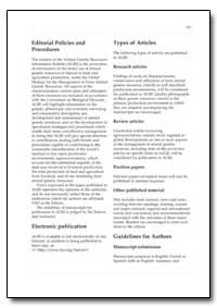 Editorial Policies and Procedures by Food and Agriculture Organization of the United Na...