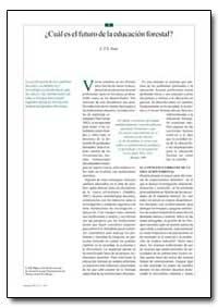 Cual Es El Futuro de la Educacion Forest... by Nair, C. T. S.