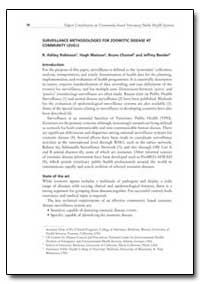 Surveillance Methodologies for Zoonotic ... by Robinson, R. Ashley