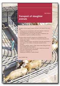 Transport of Slaughter Animals by Food and Agriculture Organization of the United Na...