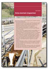 Ante-Mortem Inspection by Food and Agriculture Organization of the United Na...
