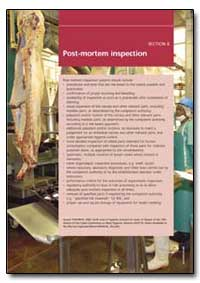 Post-Mortem Inspection by Food and Agriculture Organization of the United Na...