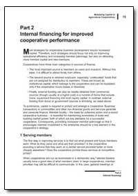 Part 2 Internal Financing for Improved C... by Food and Agriculture Organization of the United Na...