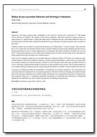 Status of Sea Cucumber Fisheries and Far... by Tuwo, Ambo