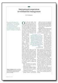 International Cooperation in Wildland Fi... by Goldammer, J. G.