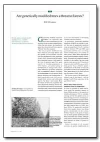 Are Genetically Modified Trees a Threat ... by El-Lakany, M. Hosny