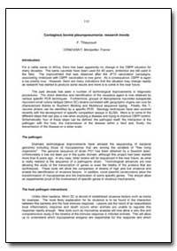 Contagious Bovine Pleuropneumonia Resear... by Thiaucourt, F.