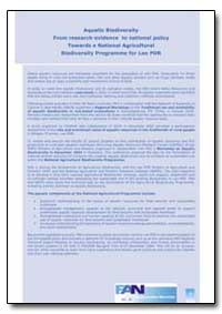 Aquatic Biodiversity from Research Evide... by Food and Agriculture Organization of the United Na...