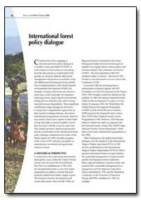 International Forest Policy Dialogue by Food and Agriculture Organization of the United Na...
