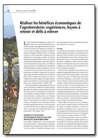 Realiser les Benefices Economiques de La... by Food and Agriculture Organization of the United Na...
