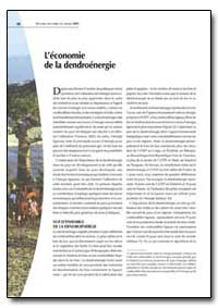Leconomie de la Dendroenergie by Food and Agriculture Organization of the United Na...