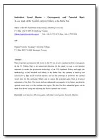 Individual Vessel Quotas-Overcapacity an... by Eggert, Hakan