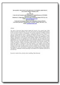 Measuring the Effects of Distance to Fis... by Mardle, Simon
