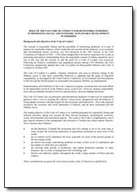 Role of the Fao Code of Conduct for Resp... by Food and Agriculture Organization of the United Na...