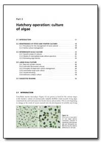Part 3 Hatchery Operation: Culture of Al... by Food and Agriculture Organization of the United Na...