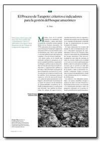 El Proceso de Tarapoto : Criterios E Ind... by Elias, Eyasu