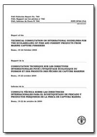 Report of the Technical Consultation on ... by Food and Agriculture Organization of the United Na...