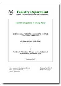 Sustainable Forest Management and the Ec... by Wilkie, Mette Loyche