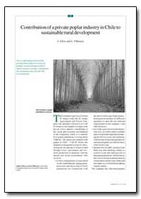 Contribution of a Private Poplar Industr... by Ulloa, J.