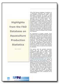 Highlights from the Fao Database on Aqua... by Lowther, Alan