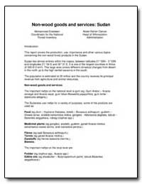 Non-Wood Goods and Services: Sudan by Food and Agriculture Organization of the United Na...