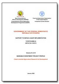 Volume IV of Vi Bankable Investment Proj... by Food and Agriculture Organization of the United Na...