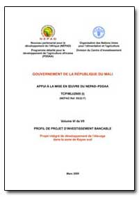 Volume Vi de VII Profil de Projet Dinves... by Food and Agriculture Organization of the United Na...