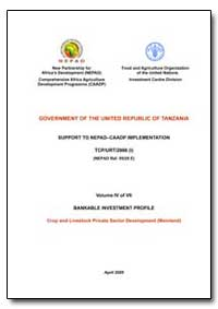 Volume IV of VII Bankable Investment Pro... by Food and Agriculture Organization of the United Na...