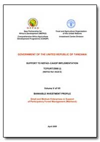Volume V of VII Bankable Investment Prof... by Food and Agriculture Organization of the United Na...