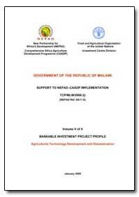Volume V of V Bankable Investment Projec... by Food and Agriculture Organization of the United Na...
