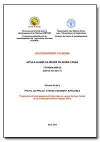 Volume III de V Profil de Projet Dinvest... by Food and Agriculture Organization of the United Na...