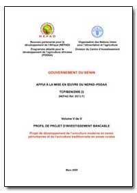 Volume V de V Profil de Projet Dinvestis... by Food and Agriculture Organization of the United Na...