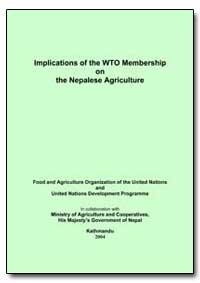 Implications of the Wto Membership on th... by Sharma, Ramesh P.