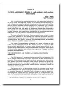 The Sps Agreement: Trade in Live Animals... by Mahato, Shubh N