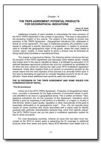 The Trips Agreement: Potential Products ... by Malla, Samar B.