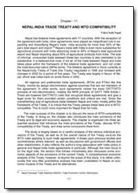 Nepal-India Trade Treaty and Wto Compati... by Nepal, Vidya Nath