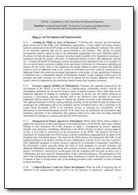 Phase 3: Late Development and Implementa... by Food and Agriculture Organization of the United Na...