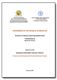Volume V of VII Bankable Investment Proj... by Food and Agriculture Organization of the United Na...