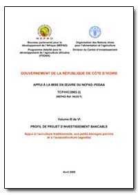 Volume III de Vi Profil de Projet Dinves... by Food and Agriculture Organization of the United Na...